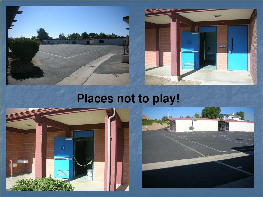 Places not to play!