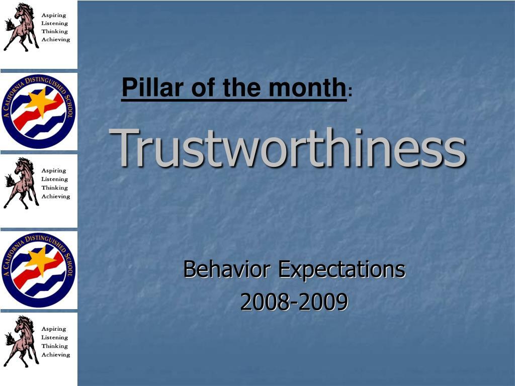 Pillar of the month