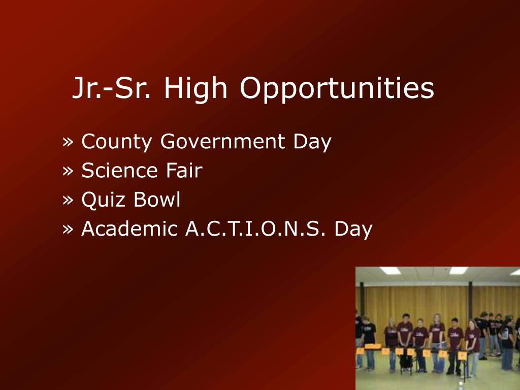 Jr.-Sr. High Opportunities