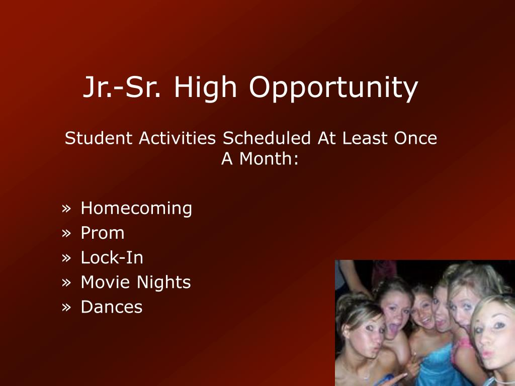 Jr.-Sr. High Opportunity