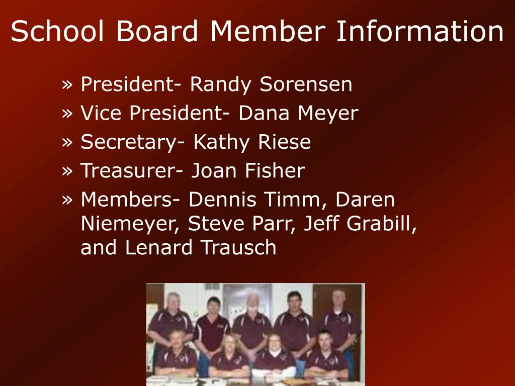 School Board Member Information