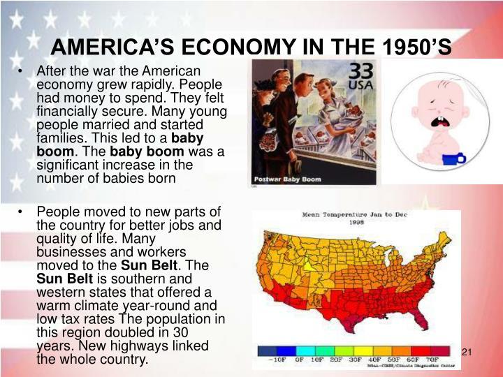 AMERICA'S ECONOMY IN THE 1950'S