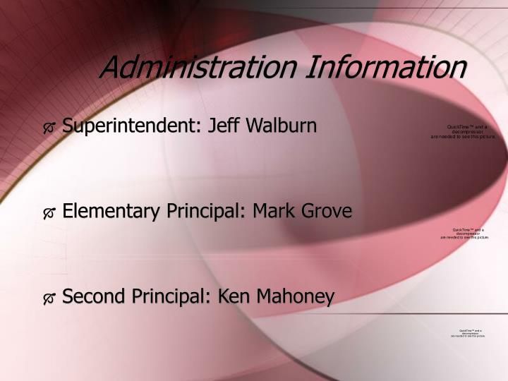 Administration information