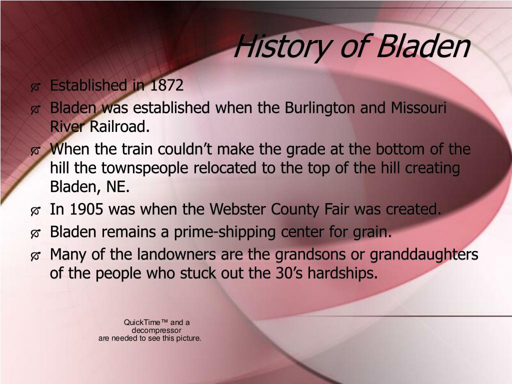 History of Bladen