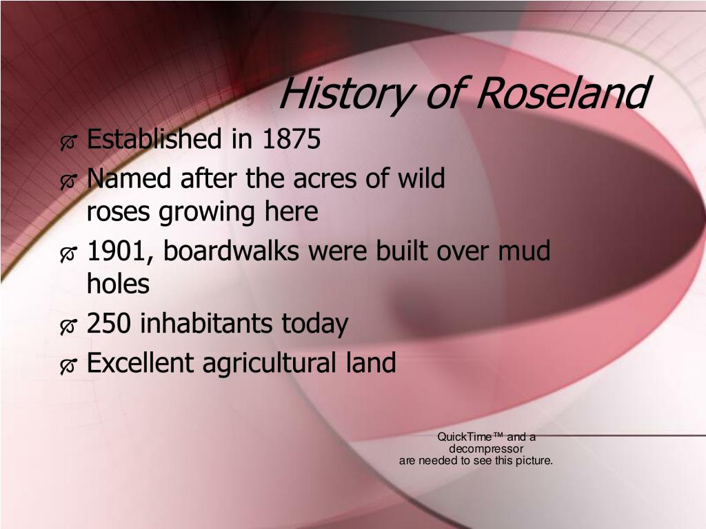 History of Roseland