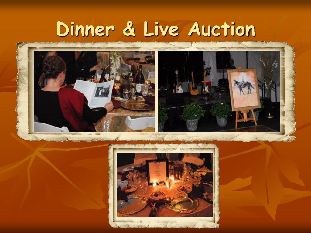 Dinner & Live Auction