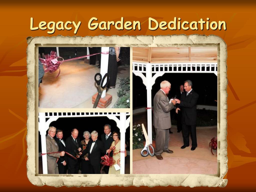 Legacy Garden Dedication