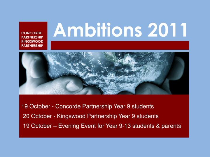 Ambitions 2011
