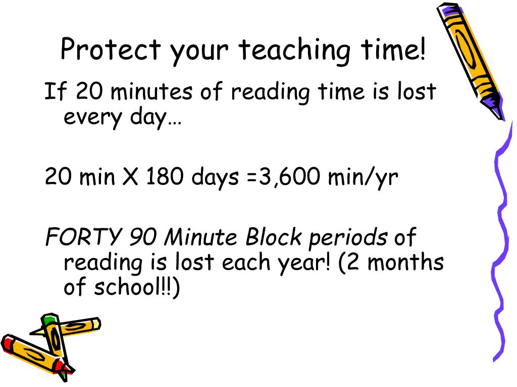 Protect your teaching time!