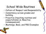 school wide routines