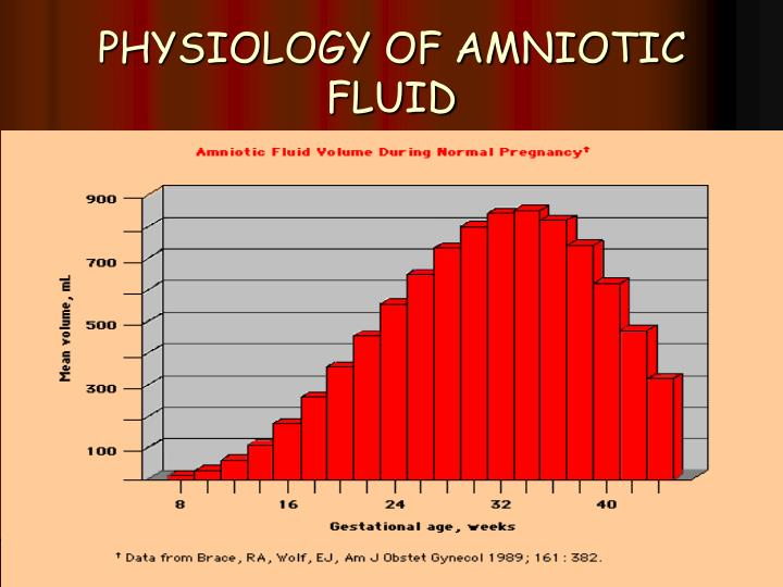 Physiology of amniotic fluid