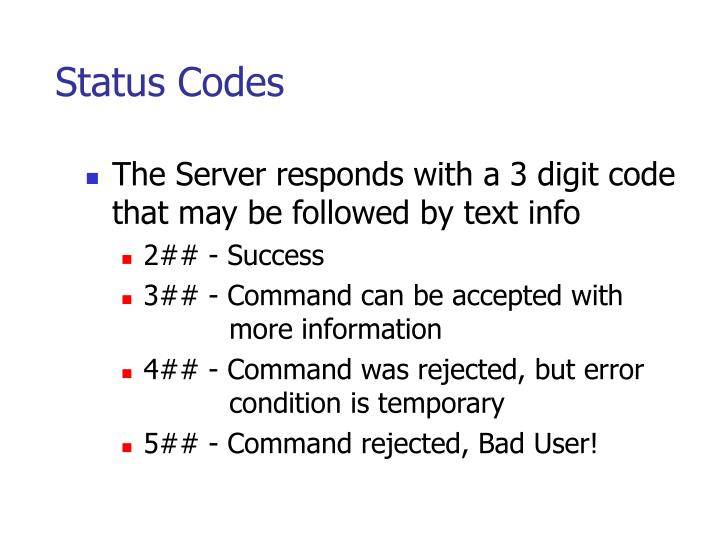 Status Codes