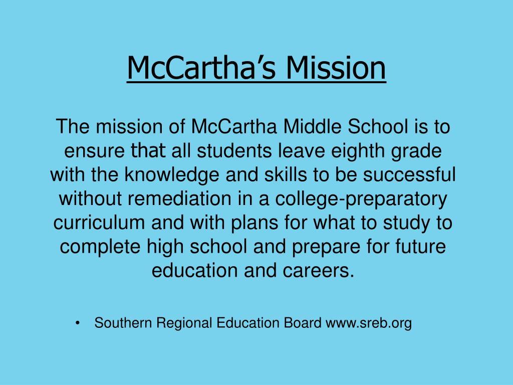 McCartha's Mission