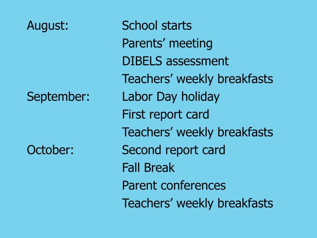 August:School starts