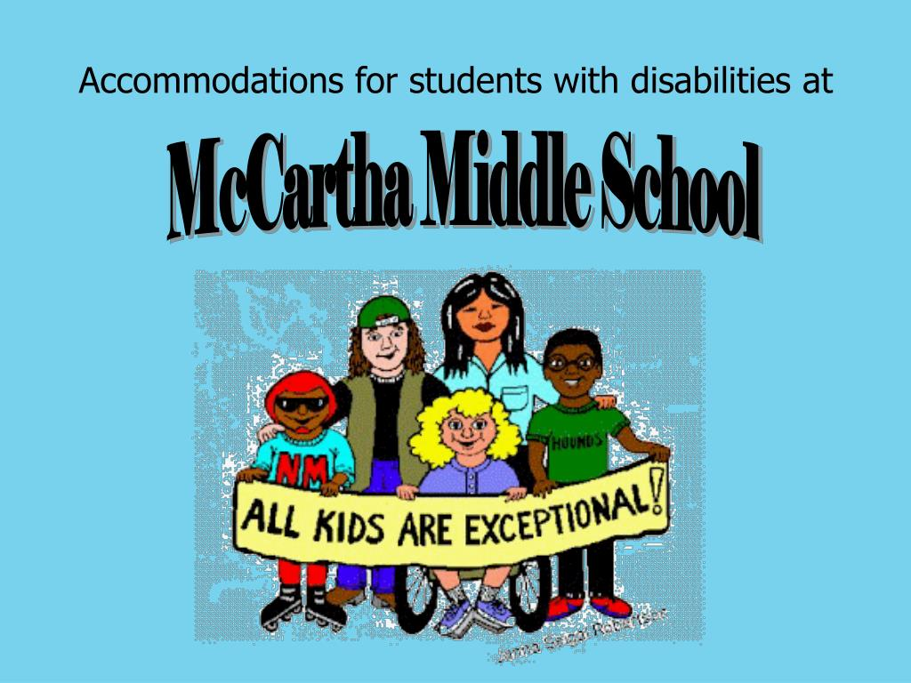 Accommodations for students with disabilities at