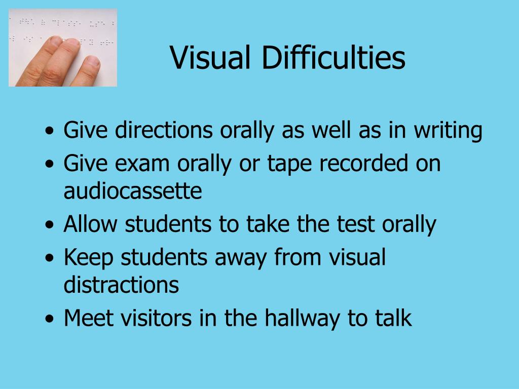 Visual Difficulties