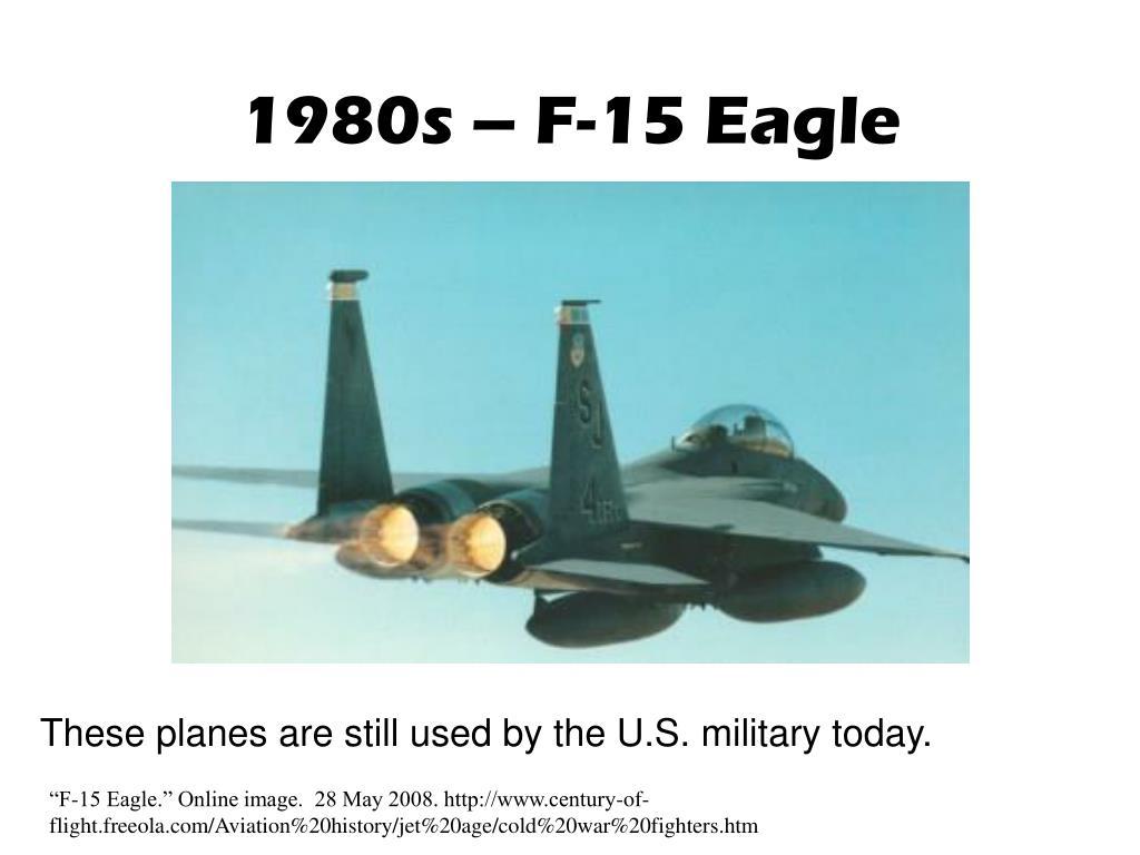 1980s – F-15 Eagle