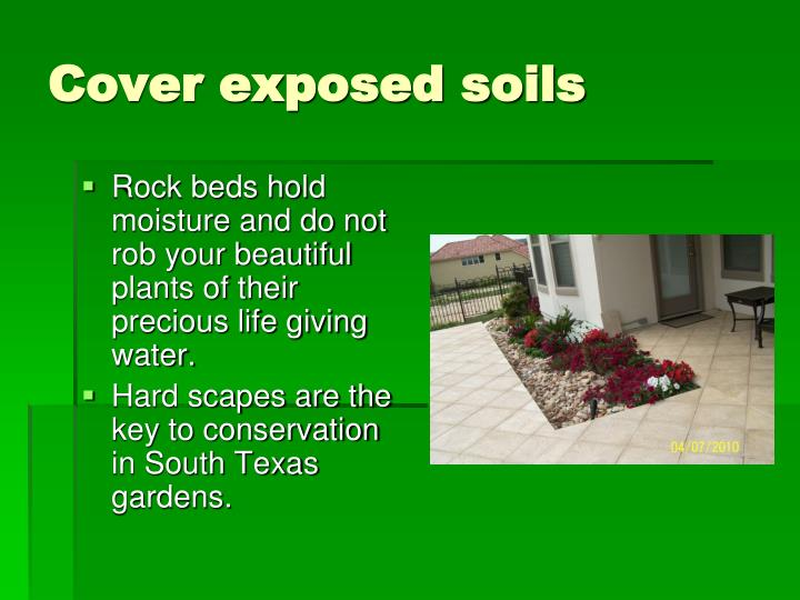 Cover exposed soils