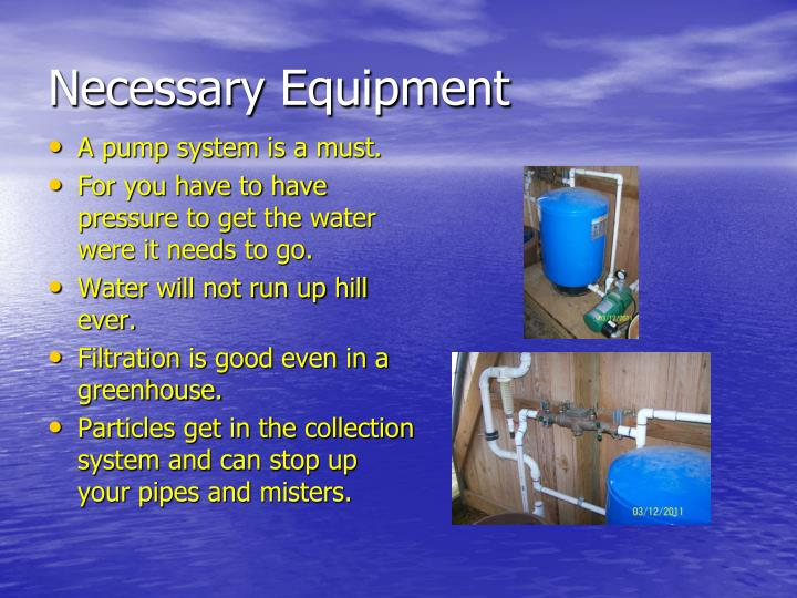 Necessary Equipment