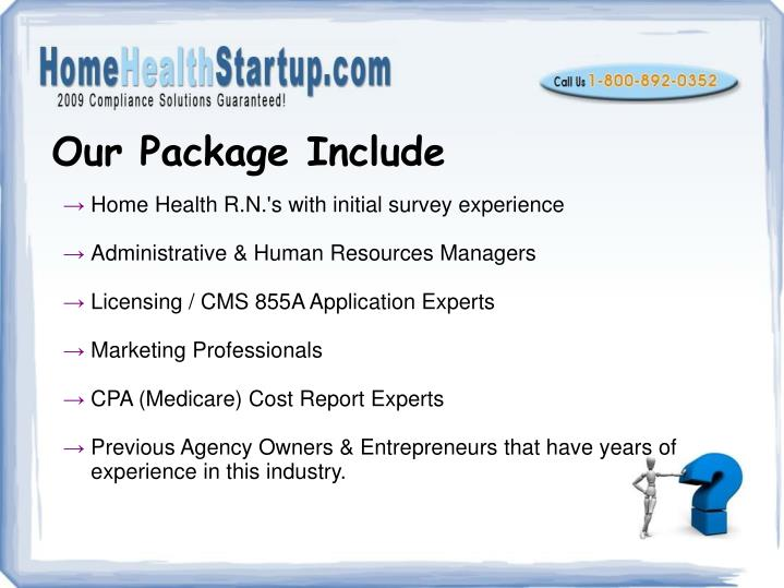 Our Package Include