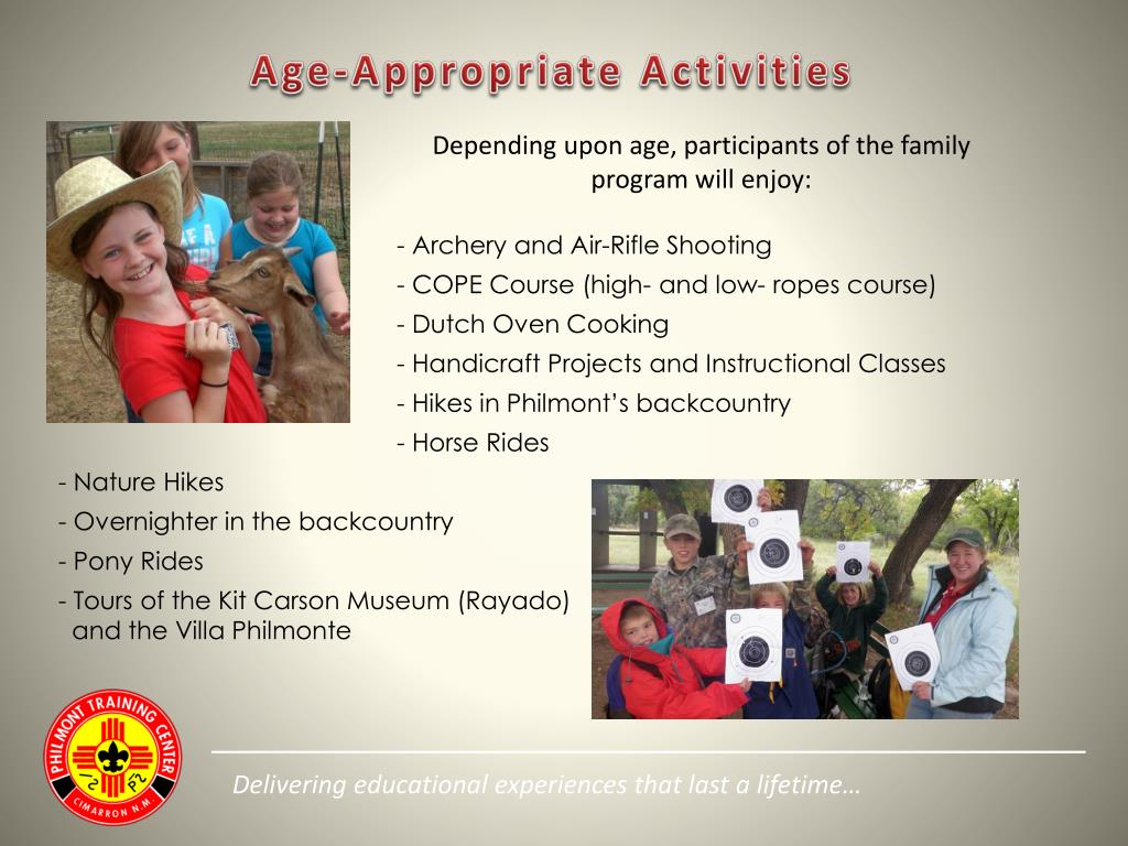 Age-Appropriate Activities