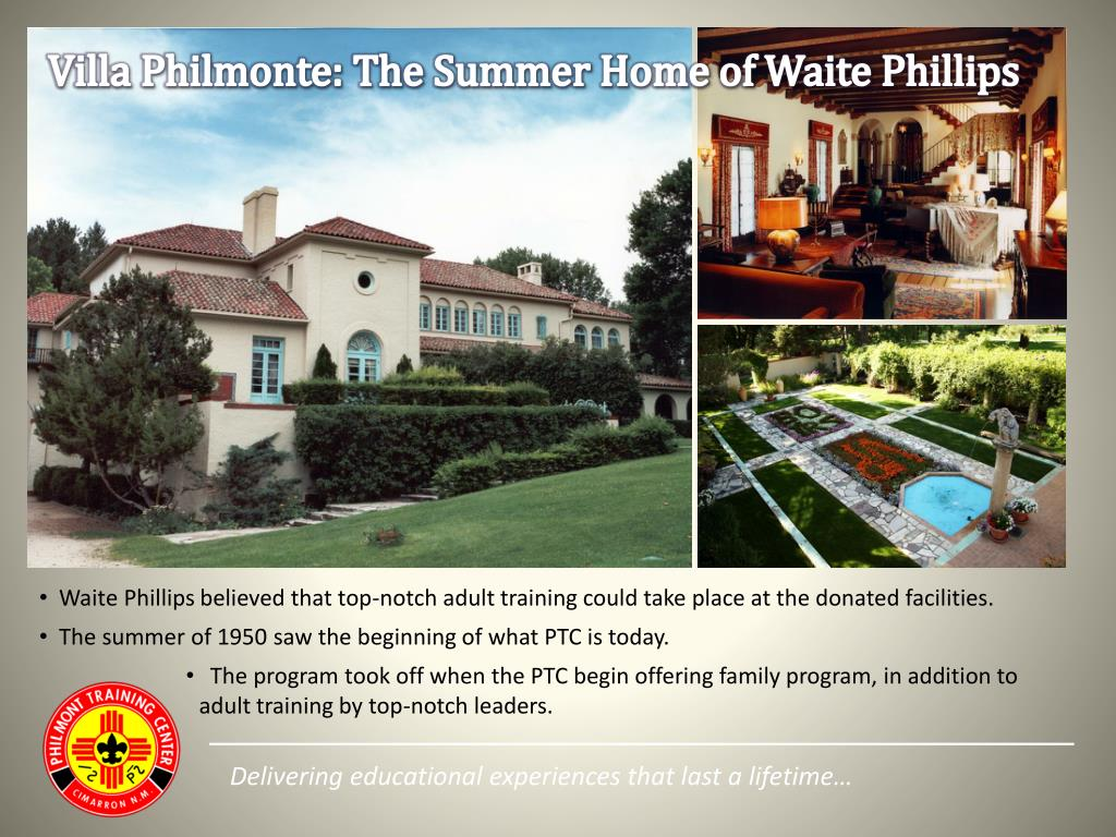 Villa Philmonte: The Summer Home of Waite Phillips