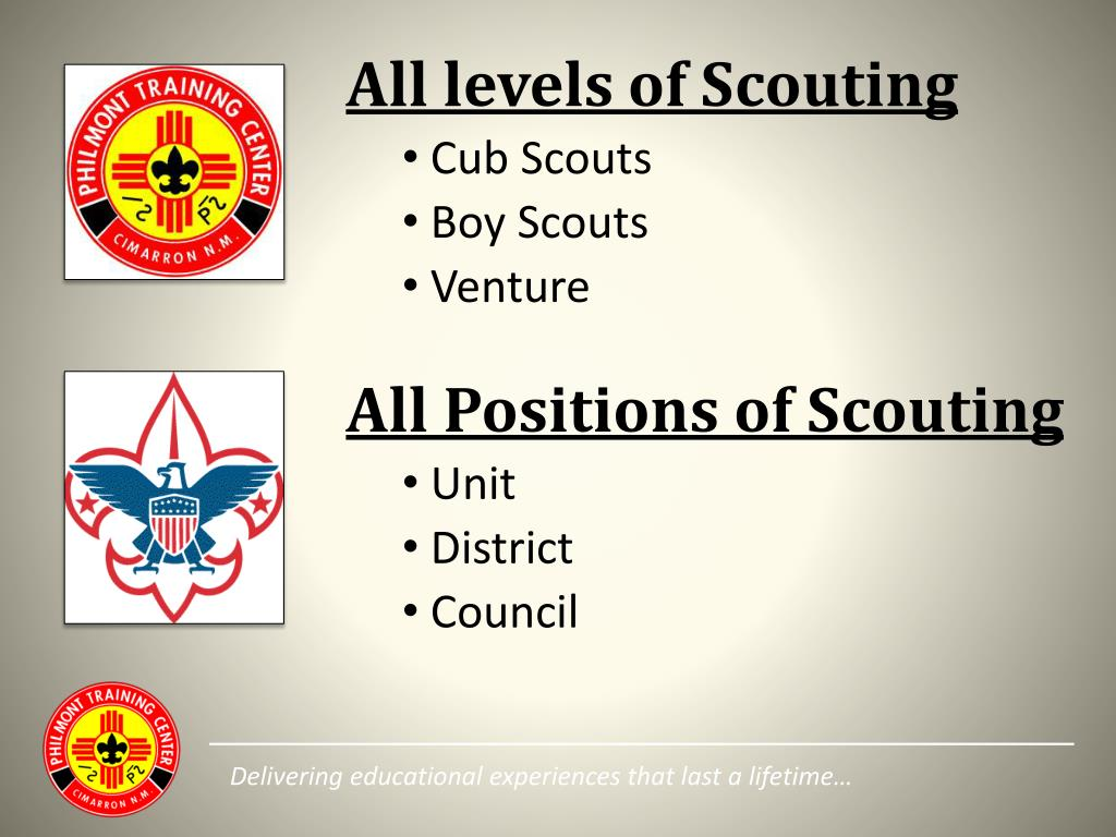 All levels of Scouting