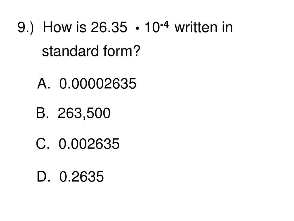 9.)  How is 26.35    10