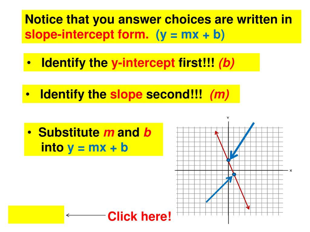 Notice that you answer choices are written in