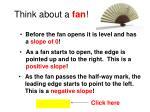 think about a fan