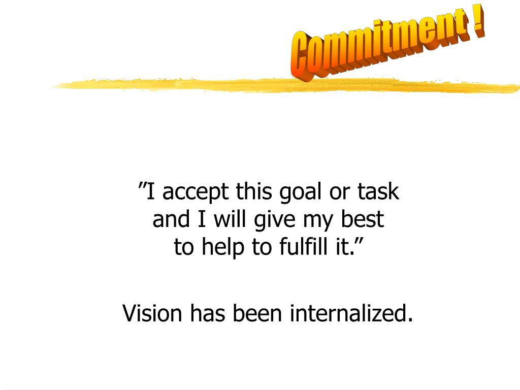 Commitment !