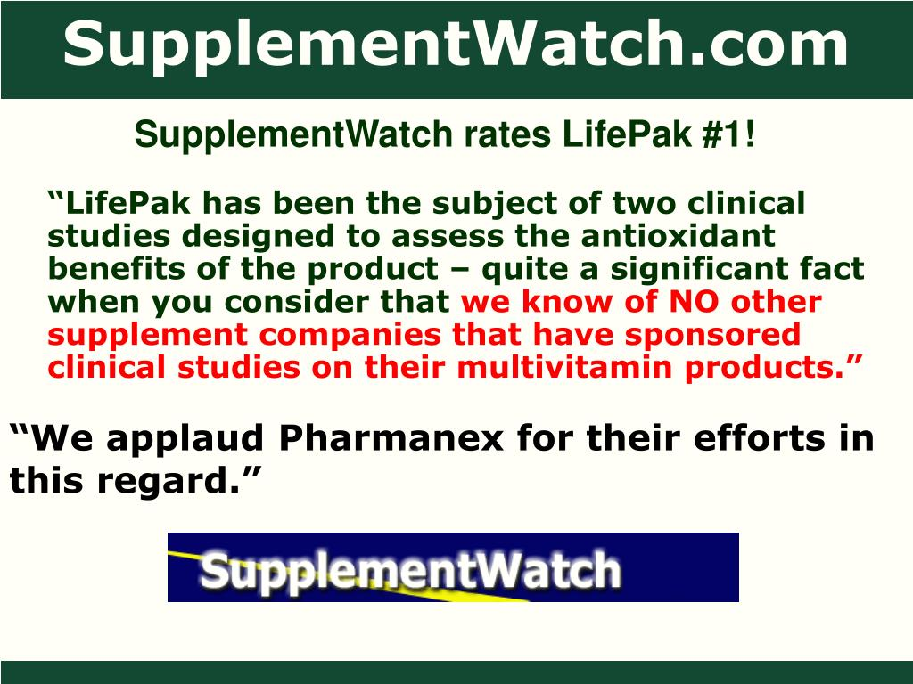 SupplementWatch rates LifePak #1!