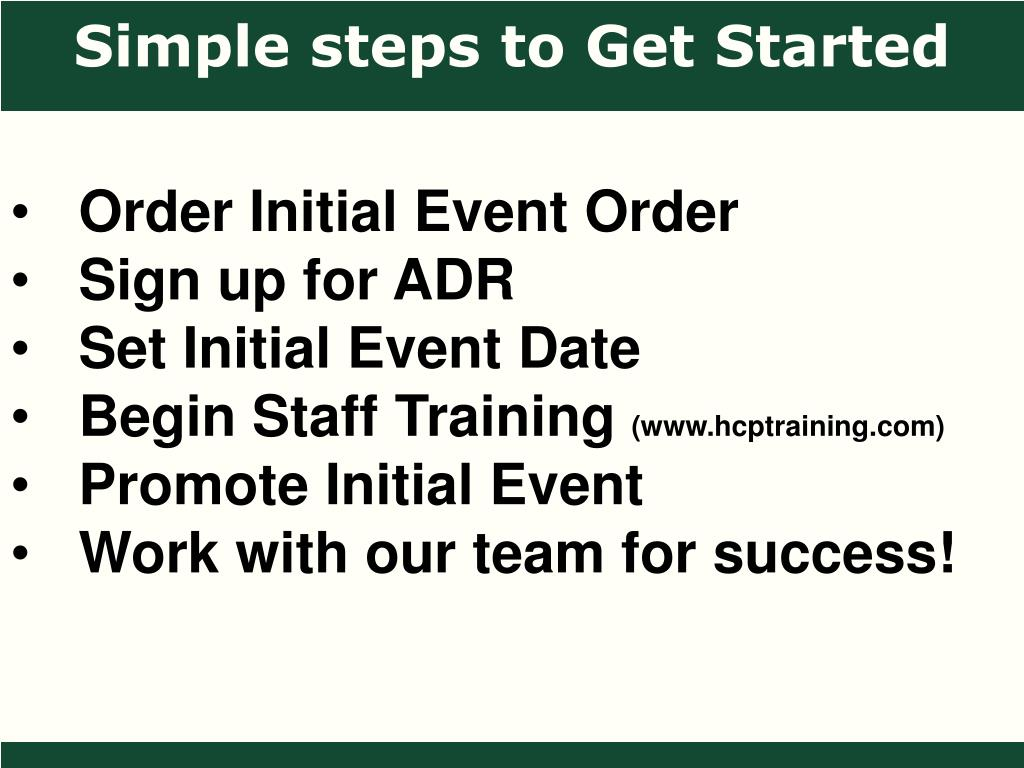 Simple steps to Get Started