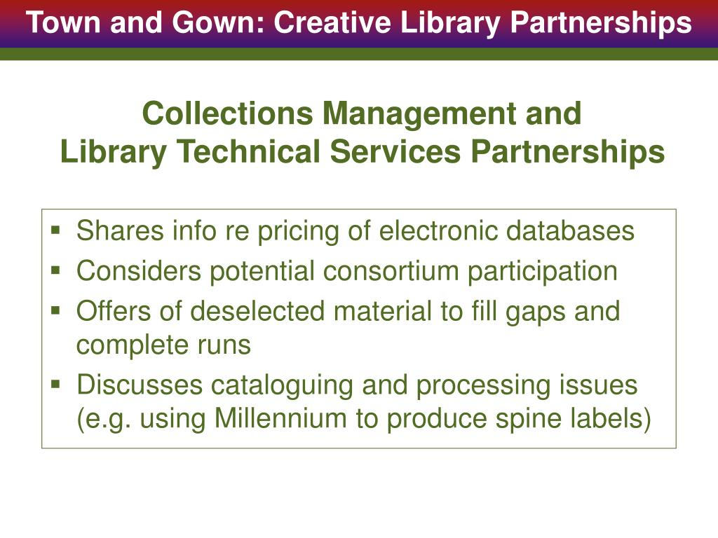 Collections Management and