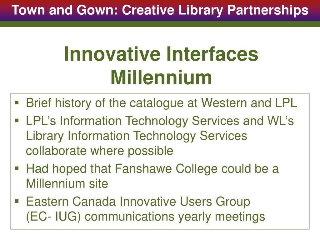 Innovative Interfaces Millennium