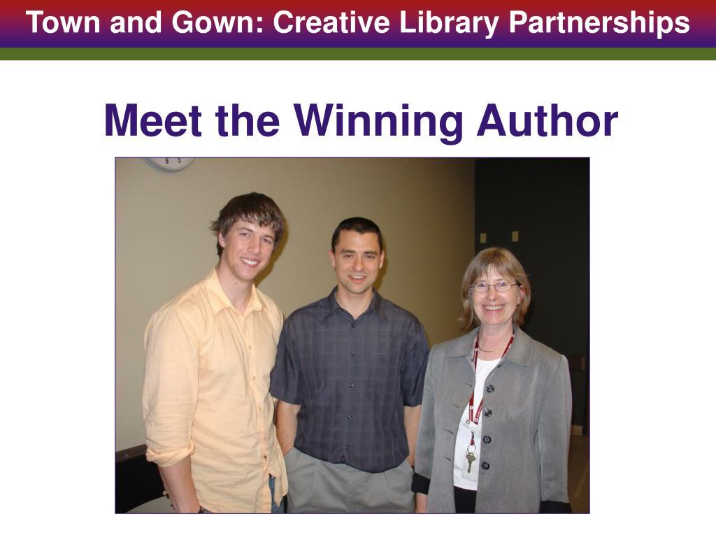 Meet the Winning Author