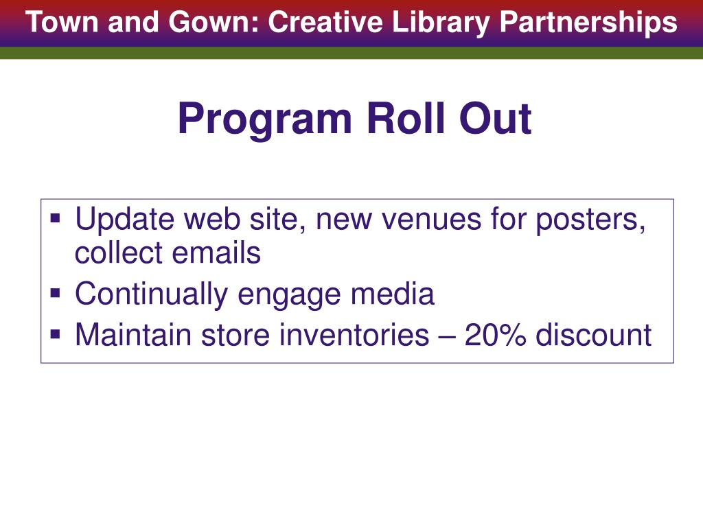 Program Roll Out