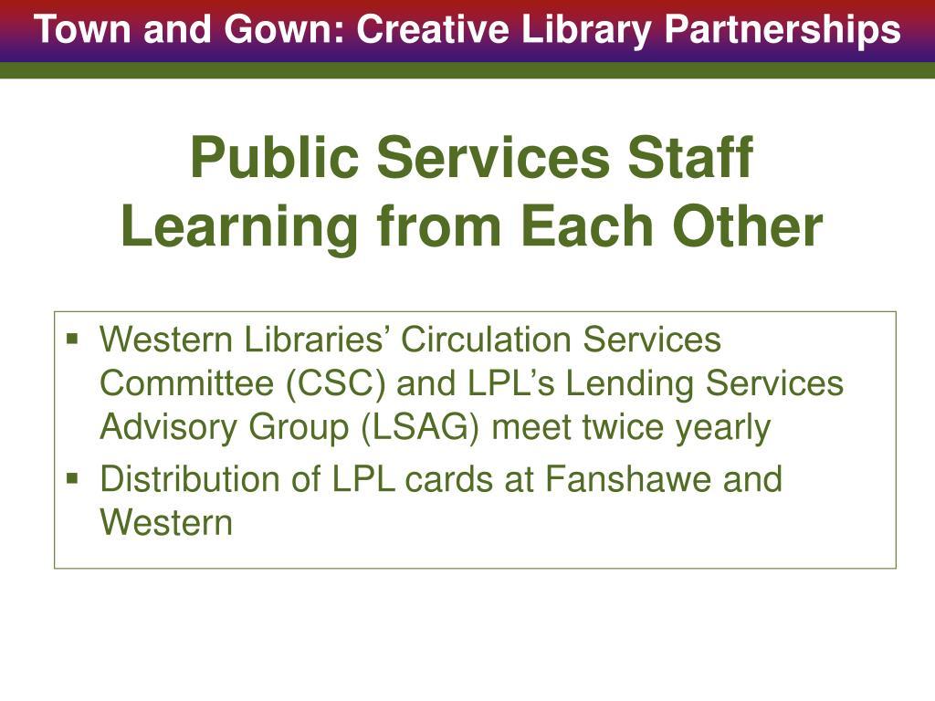 Public Services Staff