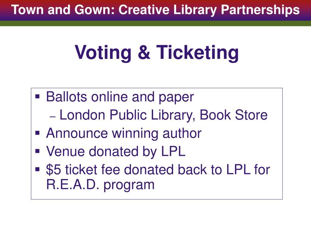 Voting & Ticketing