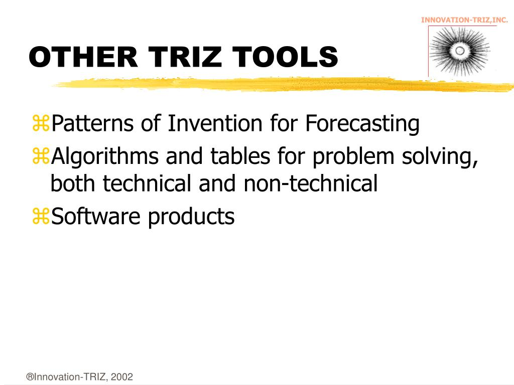 OTHER TRIZ TOOLS