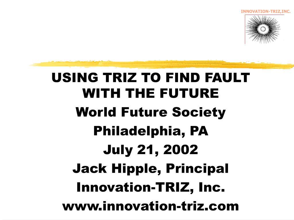 INNOVATION-TRIZ,INC.