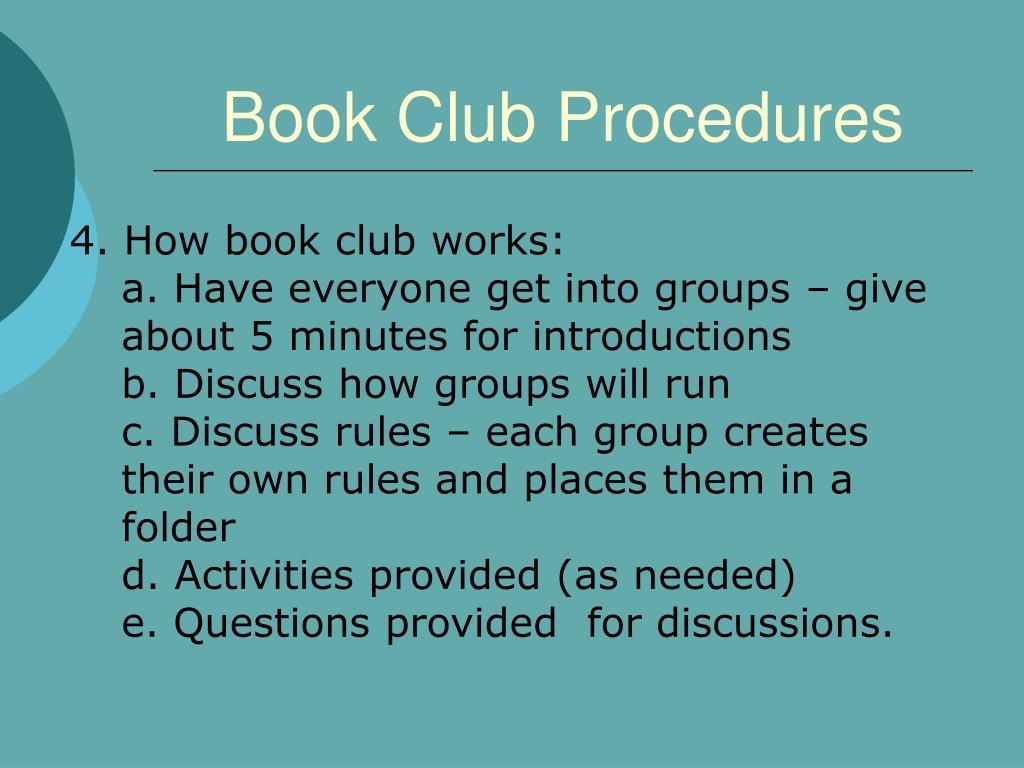 Book Club Procedures