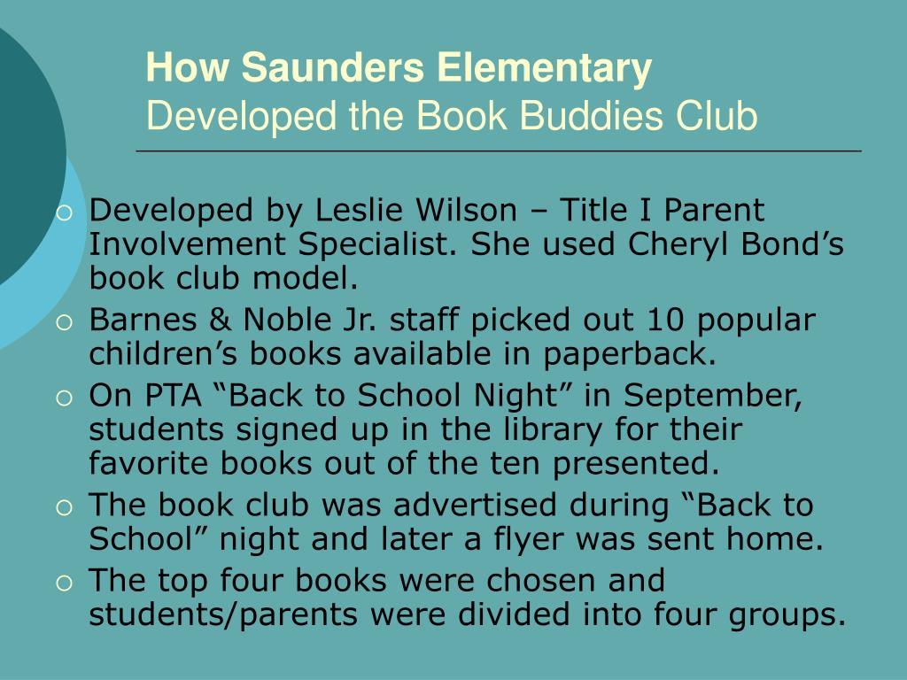 How Saunders Elementary
