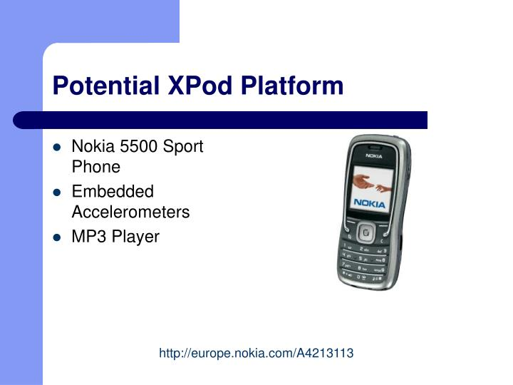 Potential XPod Platform