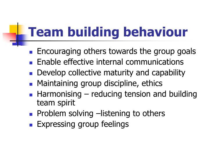Team building behaviour