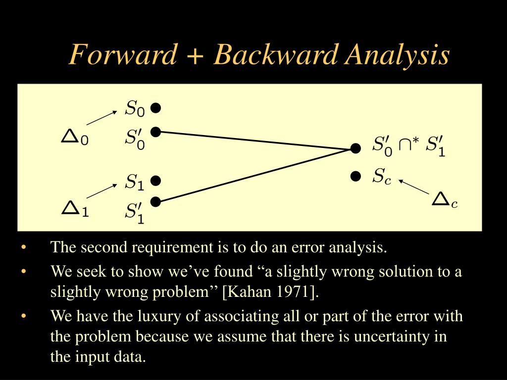 Forward + Backward Analysis