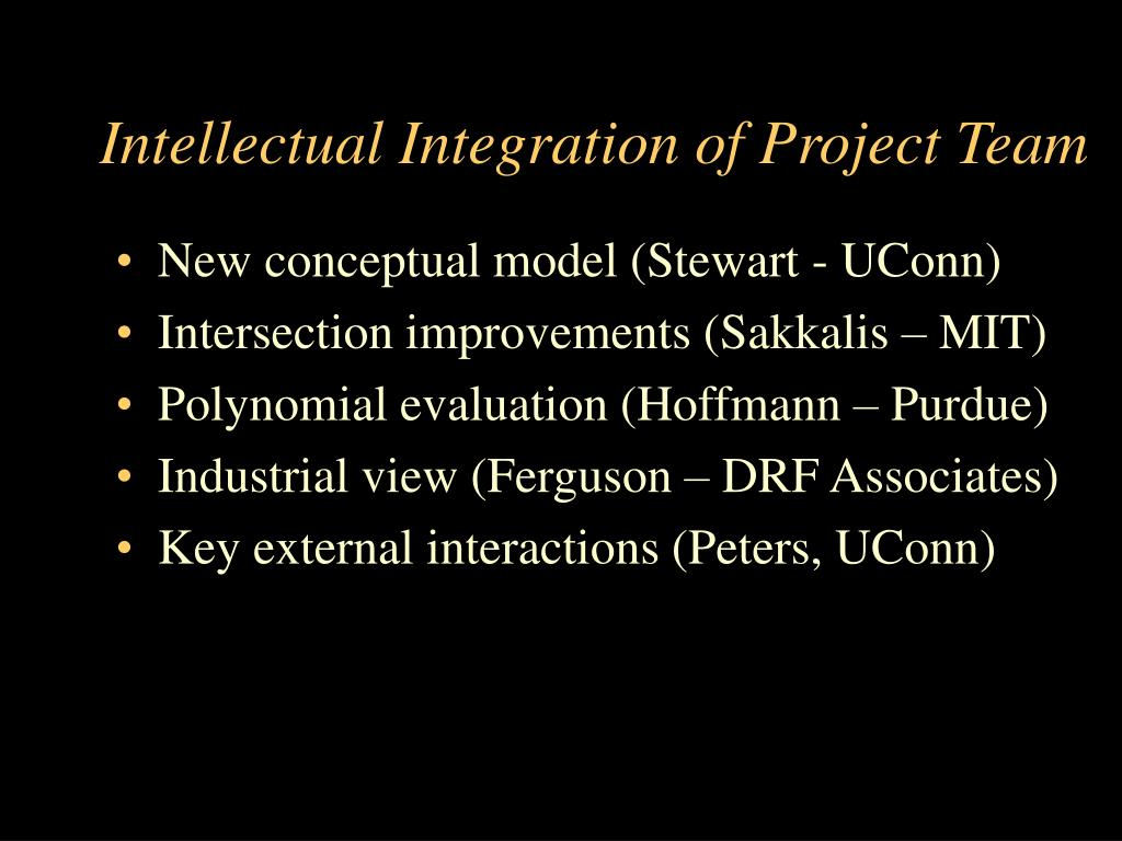 Intellectual Integration of Project Team