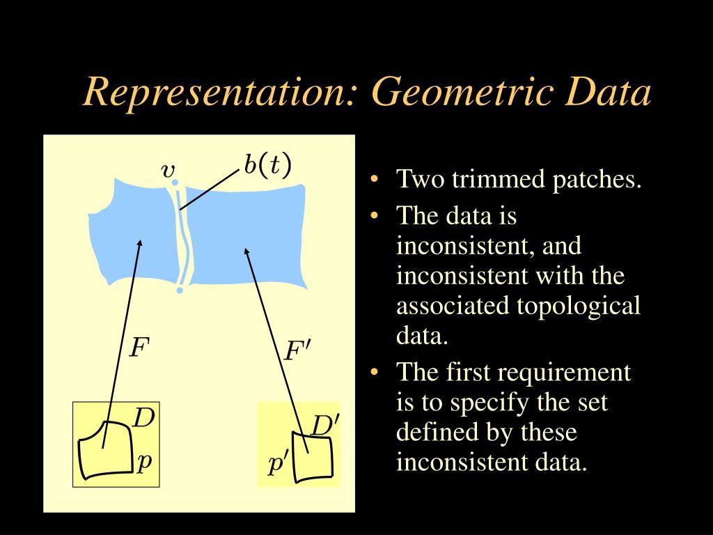 Representation: Geometric Data