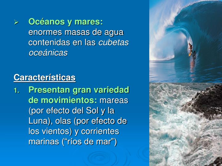 Océanos y mares: