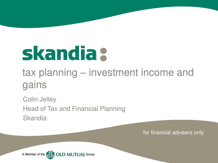 Tax planning investment income and gains